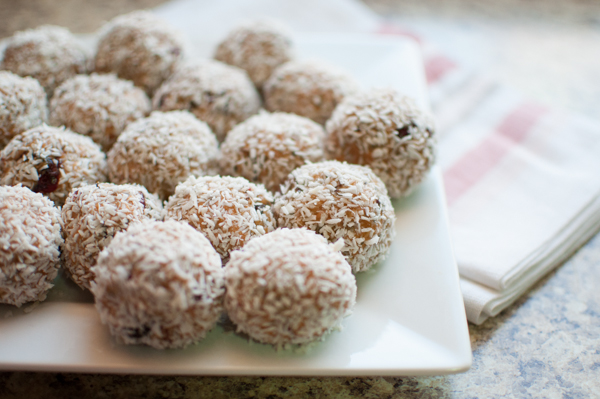 Cranberry Orange Coconut Bliss Balls