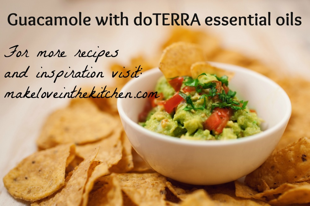 Guacamole with doTERRA essential oils. For more recipes and inspiration, visit: www.makeloveinthekitchen.com